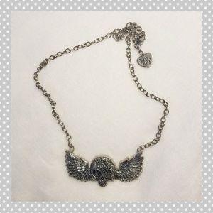 Winged Skull Rock Rebel Necklace